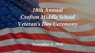 Veteran's Day Ceremony at Crofton Middle School