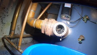 Steam Boiler Overfilling and Sludged Up Drain
