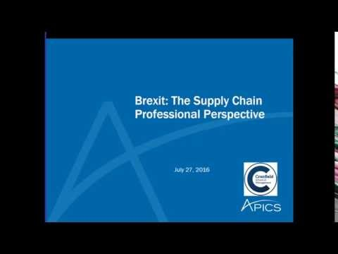 Brexit: The Supply Chain Professional Perspective