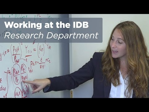 Working at the Inter-American Development Bank: Research Department