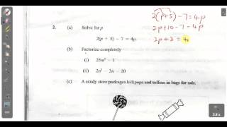 csec cxc maths past paper 2 question 2a january 2013 exam solutions act math sat math
