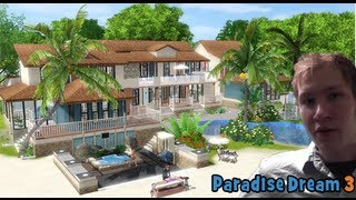 The Sims 3 House building - Paradise dream 3 ( with story, part 2 )