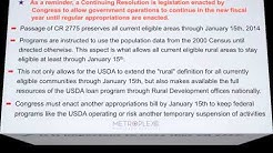 USDA Re-Mapping of Eligible Areas Postponed Due to C.R. 2775