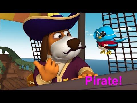 Английский язык для малышей - Мяу-Мяу - Pirate! (Пираты)– Мультфильм детям - учим английские слова