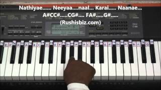 Download Hindi Video Songs - Pudhu Vellai Mazhai Piano Tutorials - Roja ( Tamil )