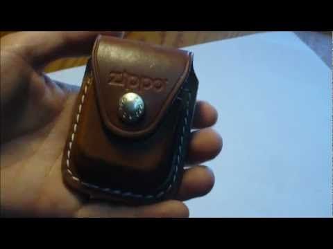 Unboxing a Zippo Genuine Leather Lighter Pouch