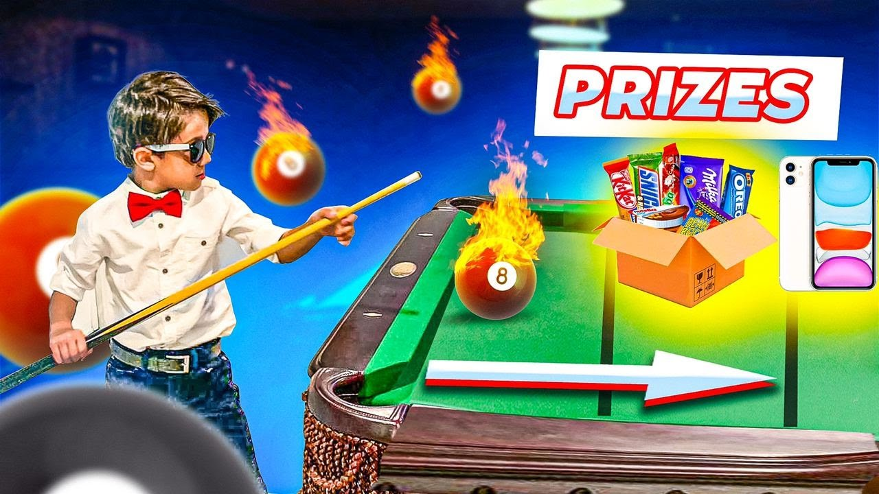 Pool Trick Shots For kids. Children's video how to play billiard. Pool table game by Get Matt