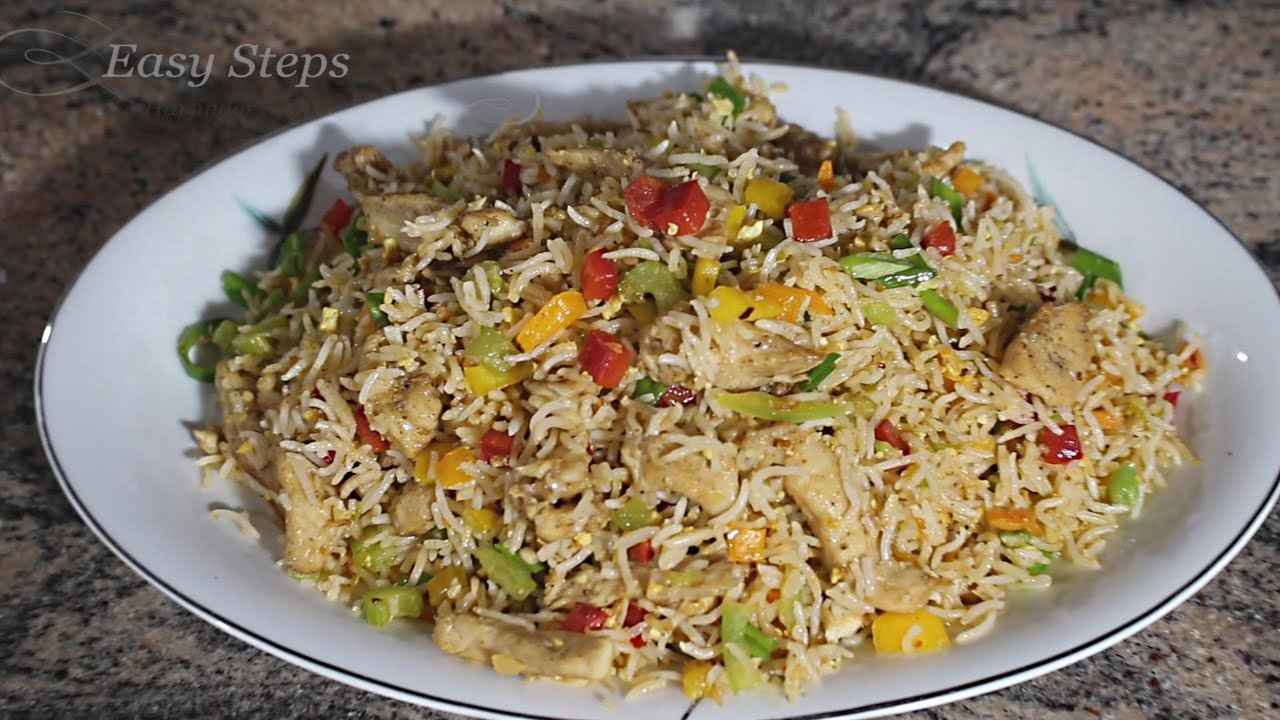 Chicken fried rice restaurant style chicken fried rice recipe chicken fried rice restaurant style chicken fried rice recipe youtube ccuart Images