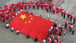 Patriotic flash mob in China's Hong Kong