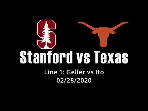 D1 Men's Tennis Texas (UT) Vs Stanford (STAN) Line 1 Axel Geller Vs Yuya Ito