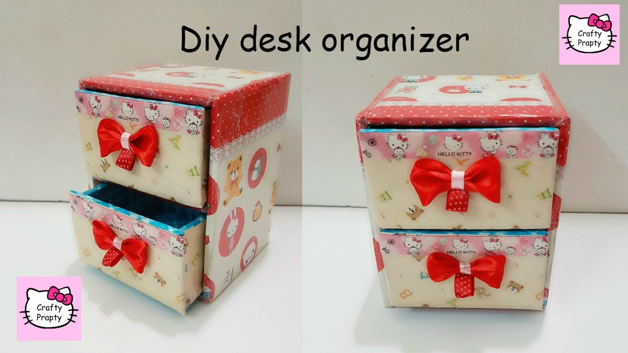 Diy Desk Organizer Diy Desk Organizer Cardboard Youtube