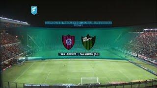 San Lorenzo - San Martín de San Juan. Fecha 3 Torneo de Primera División 2015. FPT.