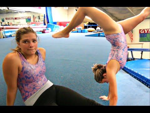 back in Gymnastics practice
