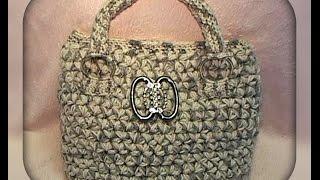 сумка рисунком звездочки , вязание крючком - Bag, Crochet