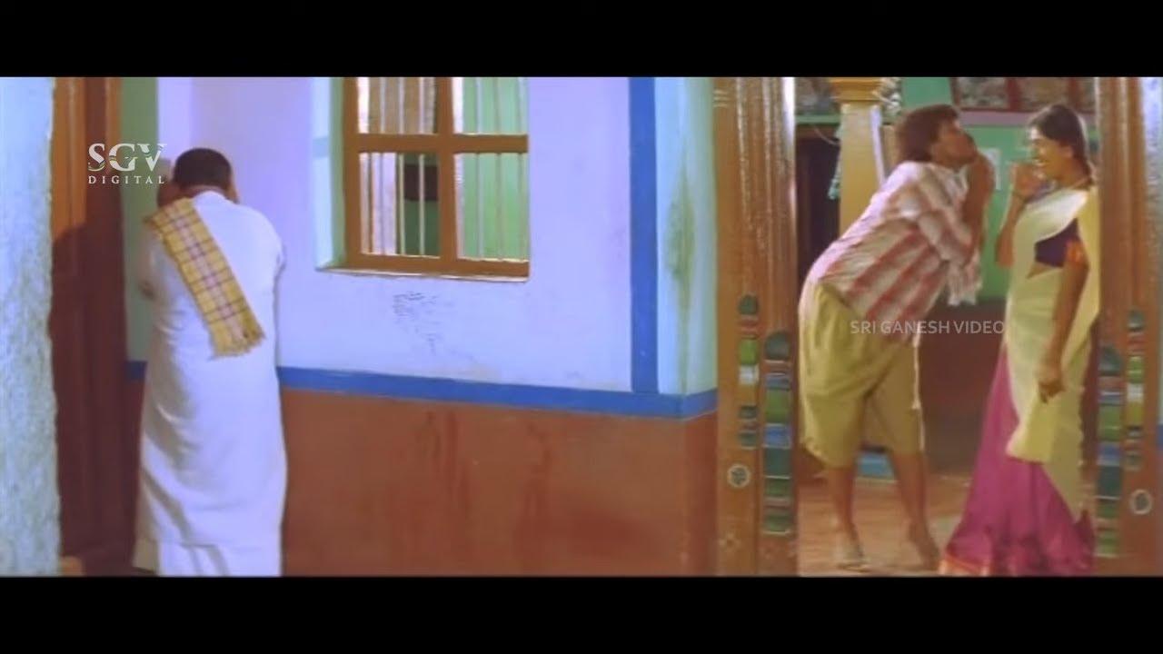 ಮಾವನ ಕಣ್ಣು ತಪ್ಪಿಸಿ ರಾತ್ರಿ ಲವರ್ ಕೊಣೆಗೆ ಬಂದ ಕುರಿ ಪ್ರತಾಪ್ | Comedy Scene | Hunja Kannada Movie