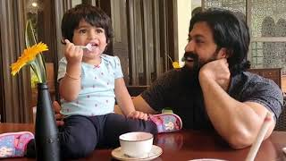 Yash Feeding Ice Cream To Daughter Ayra Yash | New Cute Video of Ayra