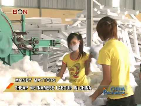 Cheap Vietnamese labour in China - China Price Watch - January 02, 2014 - BONTV China