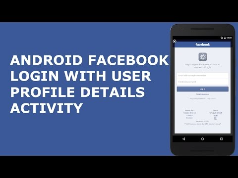 ANDROID FACEBOOK LOGIN WITH USER PROFILE DETAILS ACTIVITY PT1
