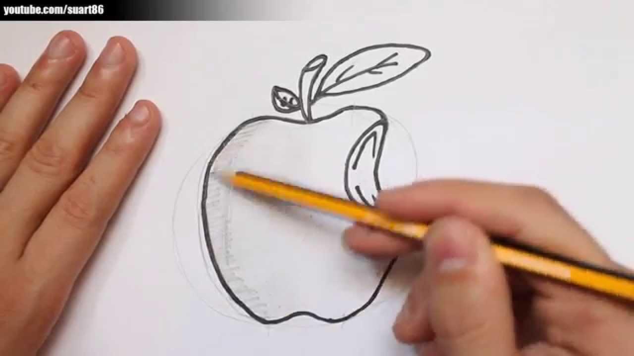 Como Dibujar Una Manzana Youtube