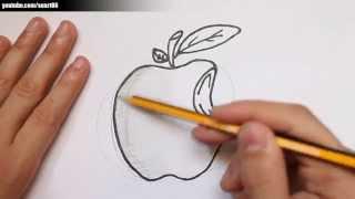 Como dibujar una manzana