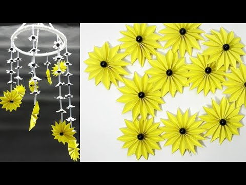 How to make wind chimes out of paper - New design jhumar tutorial using paper
