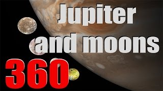 JUPITER AND ITS MOONS IN 360 - Space Engine [360 video]