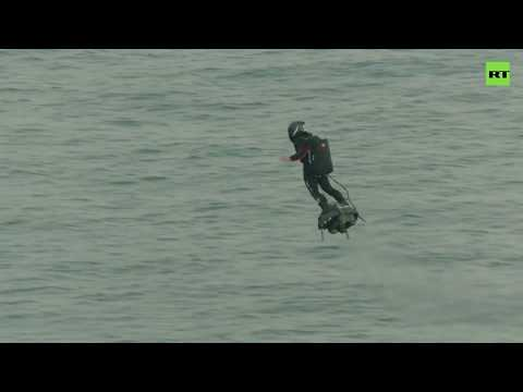 Jason Hurst - French Daredevil Crosses English Channel On His Flyboard On Second Attempt