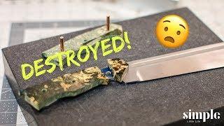 Making the Chopper Part 2 - EPIC FAIL! - knife-maker's vlog