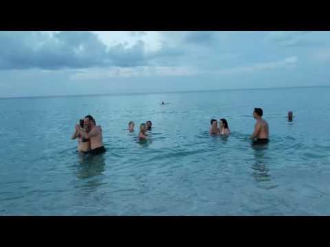 Tango in the Atlantic ocean. Miami Beach FL...