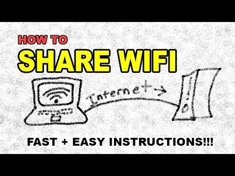 How to share your WIFI internet connection through your Ethernet port