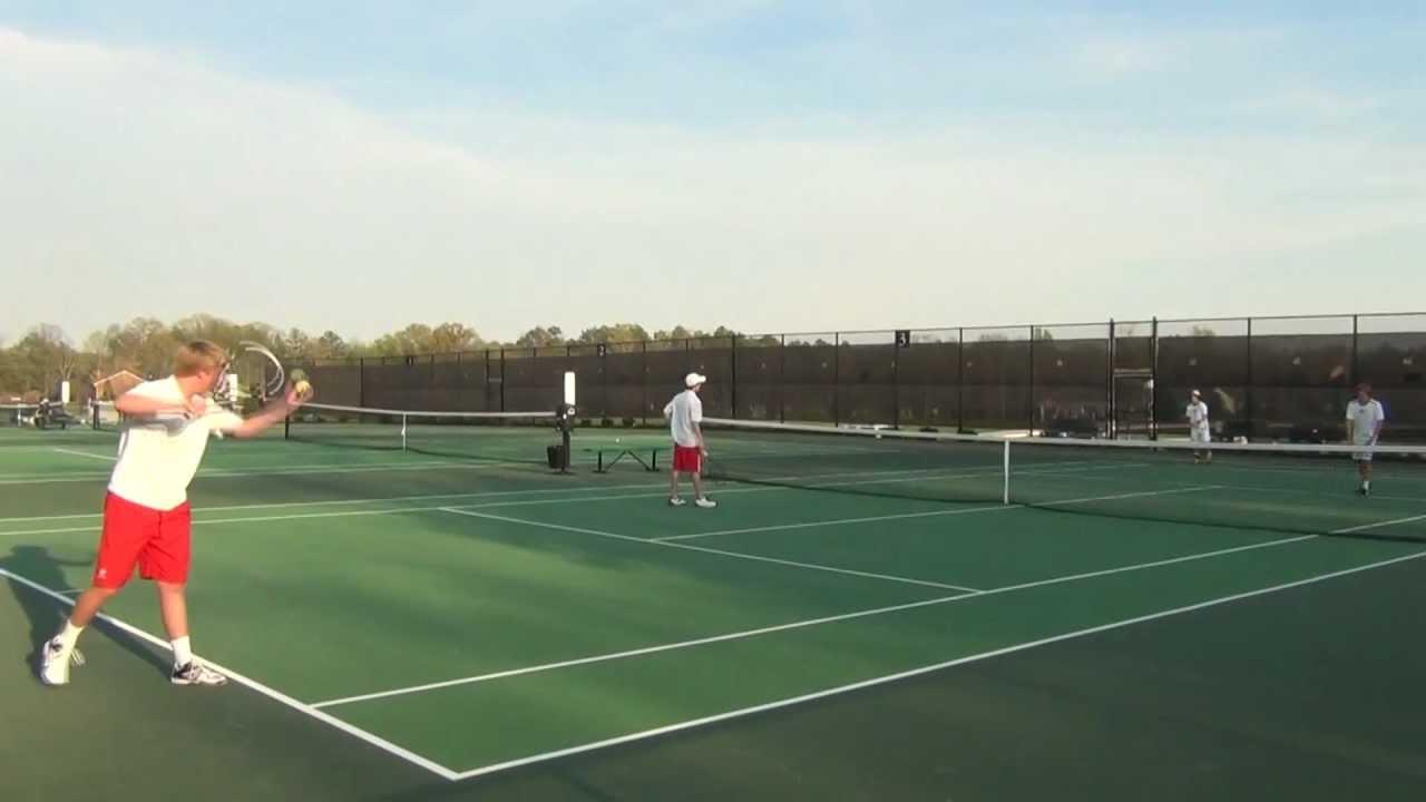 Collegiate School (Richmond VA) Tennis Match. Top doubles ...