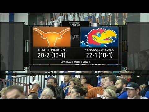 NCAA Women's Volleyball (5) Texas Longhorns @ (10) Kansas Jayhawks 11.11.2015