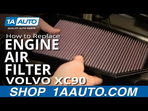 How To Replace Engine Air Cleaner Filter 03-12 Volvo XC90