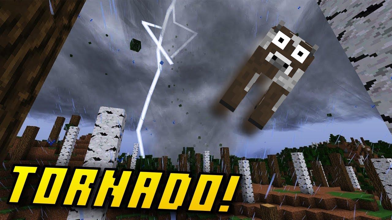 Download (Minecraft Mods) 😱 !گەردەلول و زریان دنیاکەمی وێران کرد لە ماینکرافت