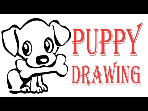 How To Drawing || Puppy Sketch Step by Step Tutorial For Children thumbnail