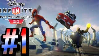 Disney Infinity 2.0: Marvel Super Heroes - Spider-Man Walkthrough HD - Intro Venom - Part 1