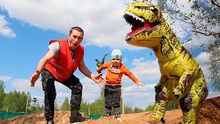 Тёма и Веселая история про Сонного голодного Динозавра, Непоседа в гостях у Малыши-Крепыши