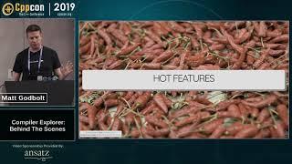 "CppCon 2019: Matt Godbolt ""Compiler Explorer: Behind The Scenes"""