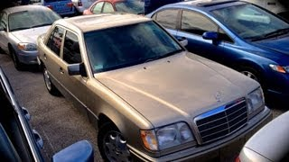 1995 mercedes benz e320 w124 start up quick tour rev with exhaust view 69k