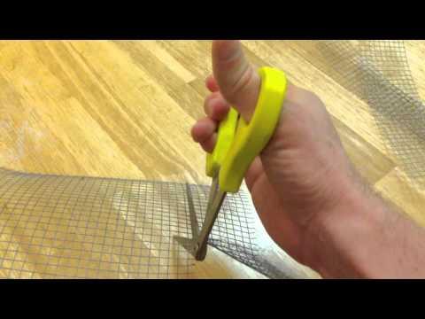 Right Shears cutting metal mesh