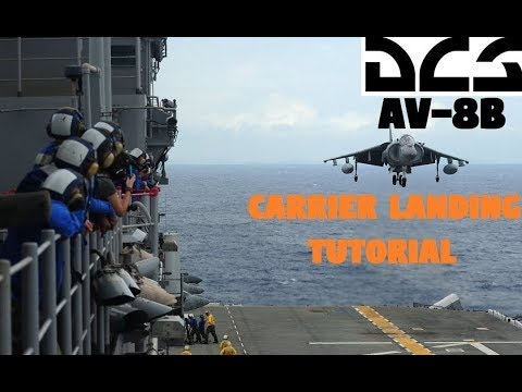 DCS AV-8B | Landing the Harrier on the Carrier [Tutorial]