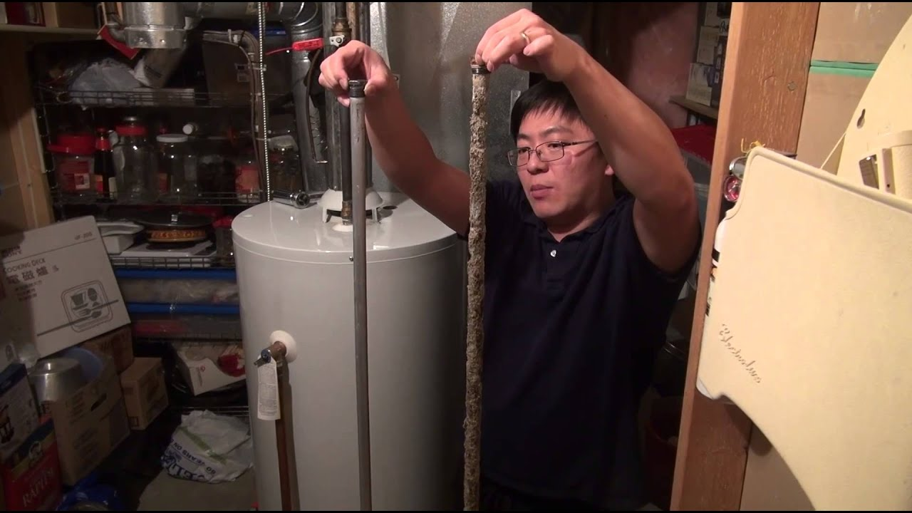 how to change water heater anode