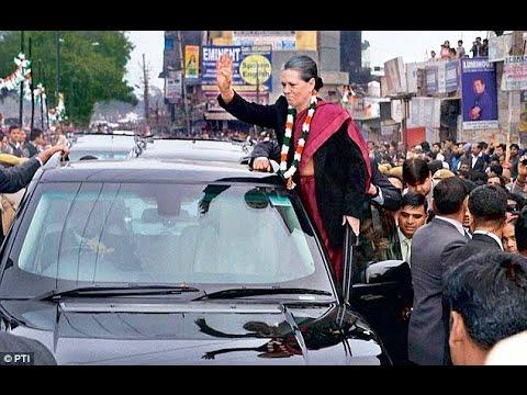 LIVE: Sonia Gandhi reaches Modi's constituency Varanasi