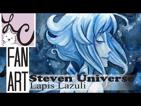 Lapis Lazuli, Steven Universe Fan Art (Winsor & Newton Watercolor Illustration)