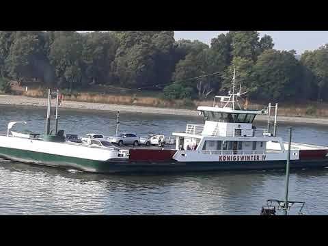 Konigswinter overzetboot voor wagens. 14 september 2018.