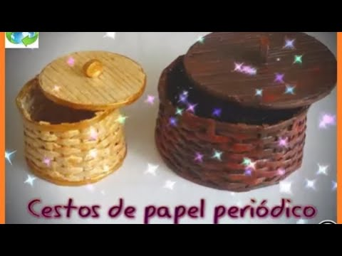 Cesto de papel periodico karenya diy youtube - Papel de vinilo para cocinas ...