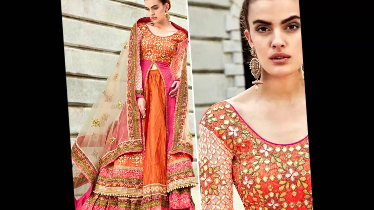 2d8faf95837 Shoppingover Latest Indian Designer Lehenga Choli Designs with Long Top for  Girls