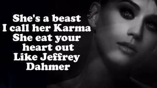 Katy Perry   Dark Horse ft  Juicy J Lyrics On Screen CDQ Video