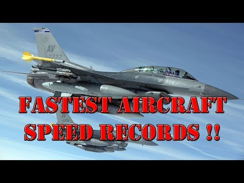 Top 10 fastest aircraft speed records ever [MUST WATCH].
