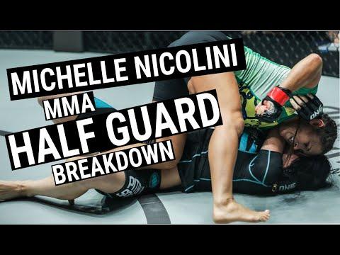 Michelle Nicolini MMA Half Guard Breakdown
